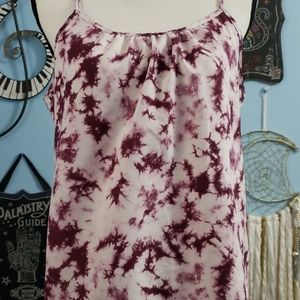 Faded Glory Tye Dye Purple Tank Top sz M, Thrifted